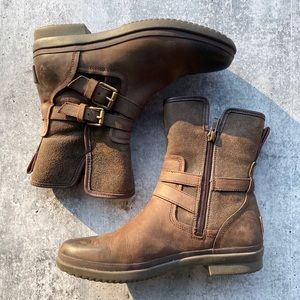 UGG Moto Style Winter Boots // wool and leather